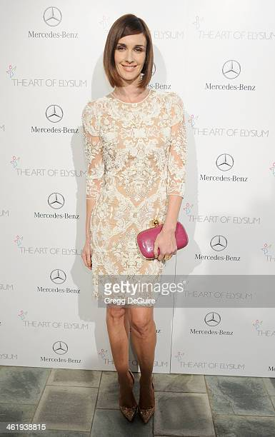 Actress Paz Vega arrives at The Art of Elysium's 7th Annual HEAVEN Gala at the Guerin Pavilion at the Skirball Cultural Center on January 11 2014 in...