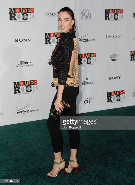 Actress Paz Vega arrives at the Conde Nast Media Group Presents 2007 Movies Rock at the Kodak Theatre on December 2 2007 in Hollywood California