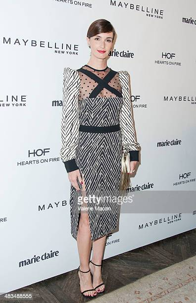 Actress Paz Vega arrives at the Marie Claire's Fresh Faces Party at Soho House on April 8 2014 in West Hollywood California