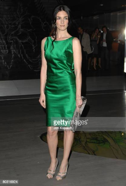 Actress Paz Vega arrives at the Trembled Blossoms Presented by Prada at the Prada Beverly Hills Epicenter on March 19 2008 in Beverly Hills California