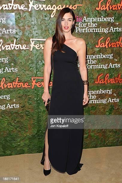 Actress Paz Vega arrives at the Wallis Annenberg Center For Performing Arts Inaugural Gala at Wallis Annenberg Center for the Performing Arts on...