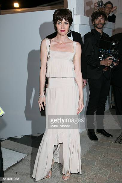 Actress Paz Vega arrives to attend the 'Vanity Fair and Chanel' party during the annual 69th Cannes Film Festival at Tetou restaurant on May 12 2016...