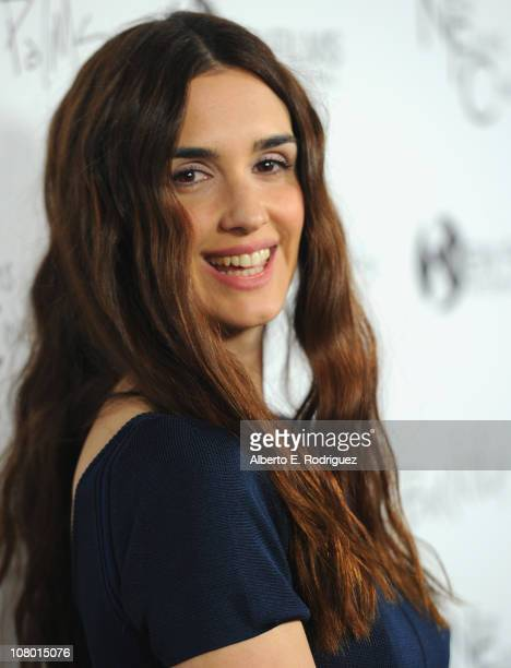 Actress Paz Vega arrives to the premiere of New Films Cinema's 'Burning Palms' on January 12 2011 in Los Angeles California
