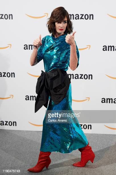 Actress Paz Vega attends Amazon PopUp inauguration at the Callao cinema on November 27 2019 in Madrid Spain