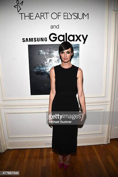 Actress Paz Vega attends an introduction to HEAVEN 2016 presented by The Art of Elysium and Samsung Galaxy on June 18 2015 in Los Angeles California