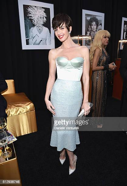 Actress Paz Vega attends Bulgari at the 24th Annual Elton John AIDS Foundation's Oscar Viewing Party at The City of West Hollywood Park on February...