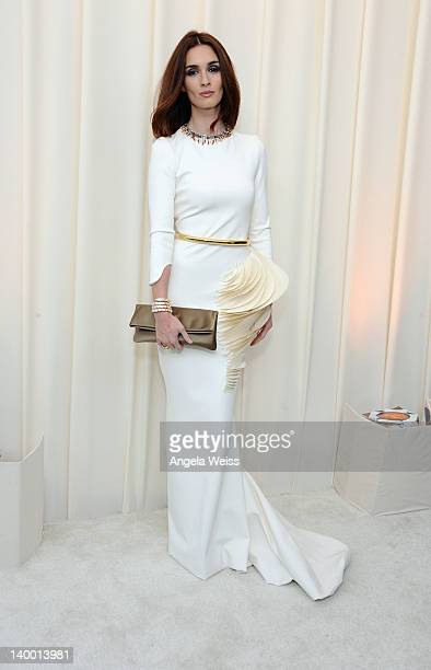 Actress Paz Vega attends CIROC Vodka at 20th Annual Elton John AIDS Foundation Academy Awards Viewing Party at The City of West Hollywood Park on...