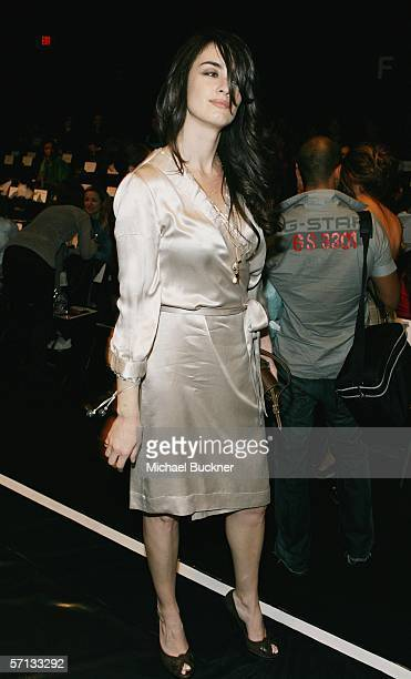 Actress Paz Vega attends MercedesBenz Fashion Week at Smashbox Studios on March 19 2006 in Culver City California