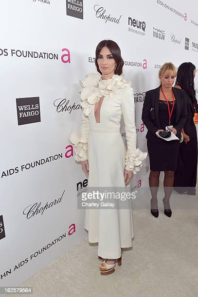 Actress Paz Vega attends Neuro at 21st Annual Elton John AIDS Foundation Academy Awards Viewing Party at West Hollywood Park on February 24 2013 in...