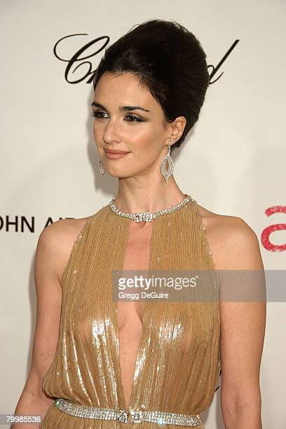 Actress Paz Vega attends the 16th Annual Elton John AIDS Foundation Oscar Party at the Pacific Design Center on February 24 2008 in West Hollywood...