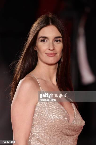 Actress Paz Vega attends the Balada Triste De Trompeta premiere during the 67th Venice Film Festival at the Sala Grande Palazzo Del Cinema on...