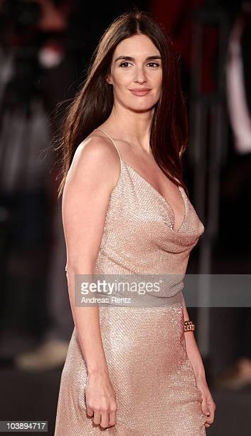 """Actress Paz Vega attends the """"Balada Triste De Trompeta"""" premiere during the 67th Venice Film Festival at the Sala Grande Palazzo Del Cinema on..."""