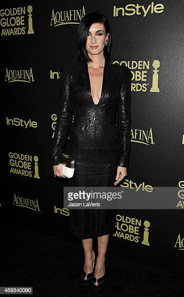 Actress Paz Vega attends the Hollywood Foreign Press Association and InStyle's celebration of the 2015 Golden Globe award season at Fig Olive Melrose...