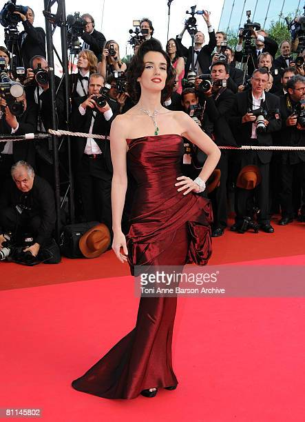 Actress Paz Vega attends the Indiana Jones and the Kingdom of the Crystal Skull premiere at the Palais des Festivals during the 61st Cannes...
