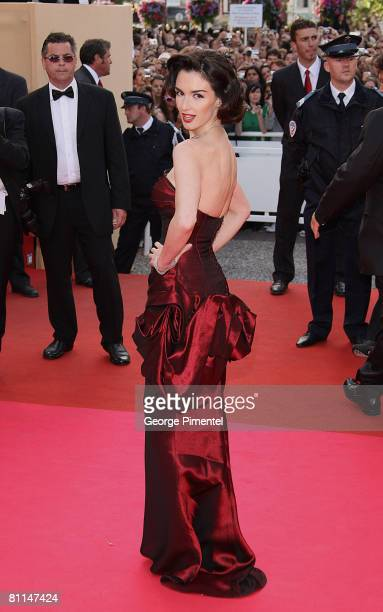 Actress Paz Vega attends the 'Indiana Jones and the Kingdom of the Crystal Skull' premiere at the Palais des Festivals during the 61st Cannes...