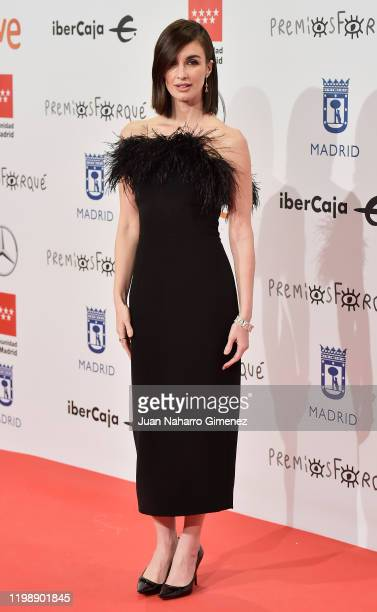 Actress Paz Vega attends the red carpet during 'Jose Maria Forque Awards' 2020 at Ifema on January 11 2020 in Madrid Spain