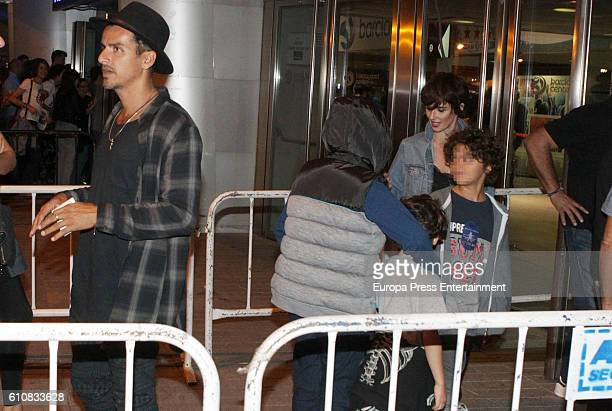 Actress Paz Vega her husband Orson Salazar and their kids Orson Salazar and Lenon Salazar attend Red Hot Chili Peppers's concert at Barclaycard...