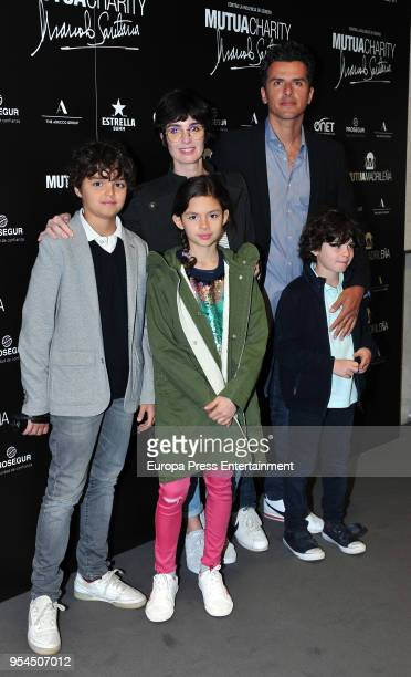 Actress Paz Vega her husband Orson Salazar and their kids Orson Salazar Lenon Salazar and Ava Salazar during the Mutua Charity Manolo Santana at...