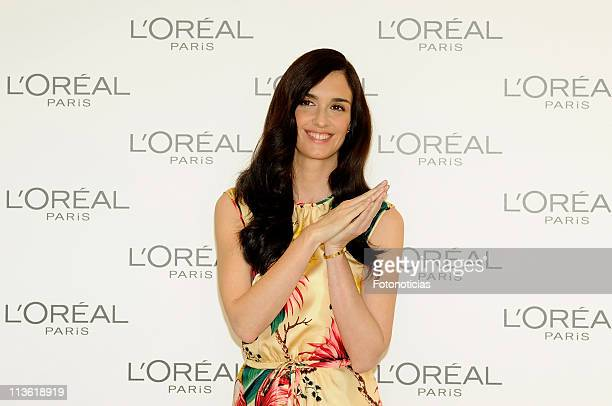 Actress Paz Vega is presented as the new Spanish Ambassador of L'Oreal at the Thyssen Museum on May 4 2011 in Madrid Spain