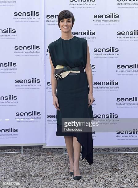Actress Paz Vega presented as the new 'Sensilis' Ambassador at the palacio de Santa Barbara on February 5 2016 in Madrid Spain