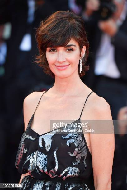 Actress Paz Vega walks the red carpet ahead of the 'Roma' screening during the 75th Venice Film Festival at Sala Grande on August 30 2018 in Venice...