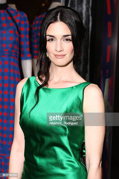 Actress Paz Vega wearing Prada attends the Los Angeles screening of Trembled Blossoms presented by Prada on March 19 2008 in Beverly Hills California