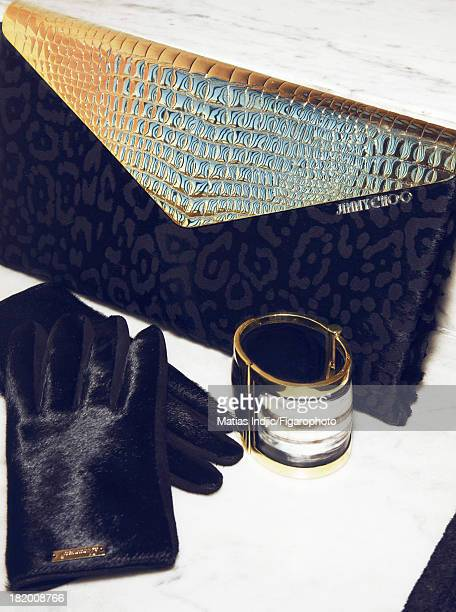106860006 Actress Paz Vega's style inspirations are photographed for Madame Figaro on May 28 2013 in Cannes France Clutch gloves cuff PUBLISHED IMAGE...