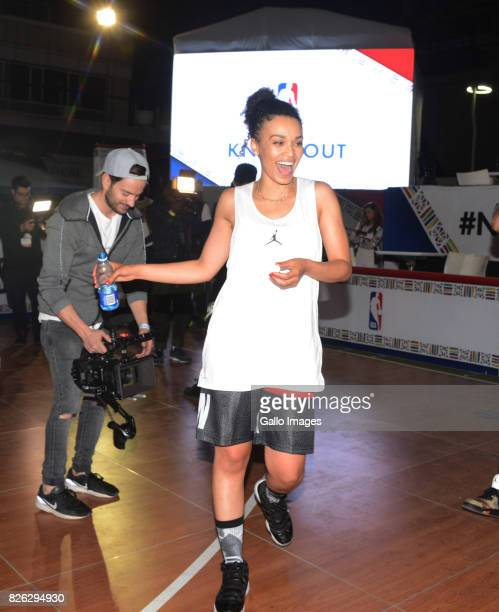 TV actress Pearl Thusi at the NBA Africa Celebrity Basketball Game on August 03 2017 in Johannesburg South Africa The NBA Africa Game brought African...