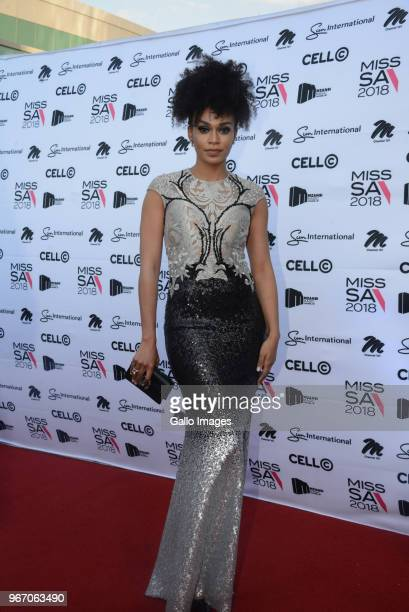 TV actress Pearl Thusi during the Miss SA 2018 beauty pageant grand finale at the Time Square Sun Arena on May 27 2018 in Pretoria South Africa From...