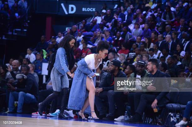 Actress Pearl Thusi during the NBA Africa Game 2018 at Sun Arena Time Square on August 04 2018 in Pretoria South Africa The NBA Africa Game is coming...