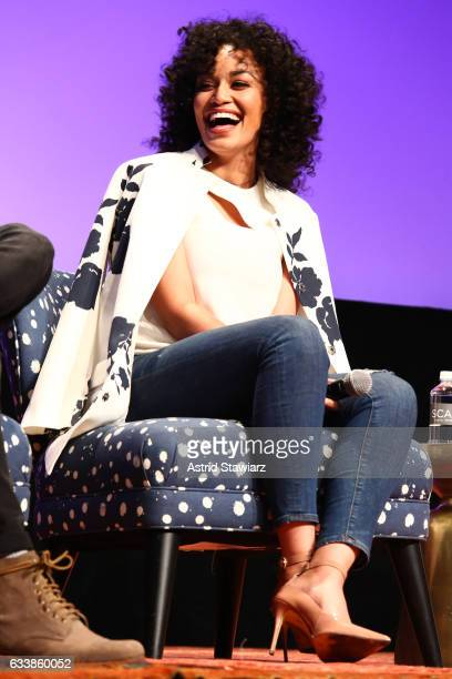 Actress Pearl Thusi speaks at a QA for 'Quantico' on Day Three of the aTVfest 2017 presented by SCAD at SCADshow on February 4 2017 in Atlanta Georgia