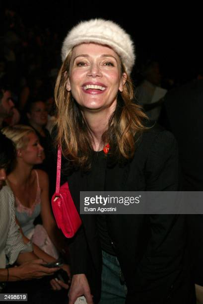 Actress Peggy Lipton attends the Marc Jacobs Spring/Summer 2004 Collection at the Manhattan Armory during the 7th on Sixth MercedesBenz Fashion Week...