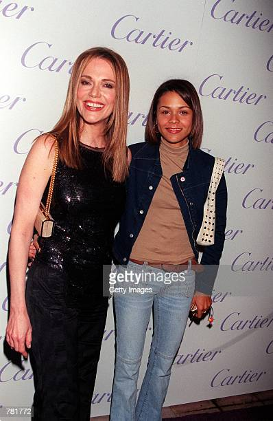 Actress Peggy Lipton with her daughter Kidada Jones attend Cartier Haute Joaillerie 2000 Perles Et Diamants held at Eurochow November 9 2000 in Los...