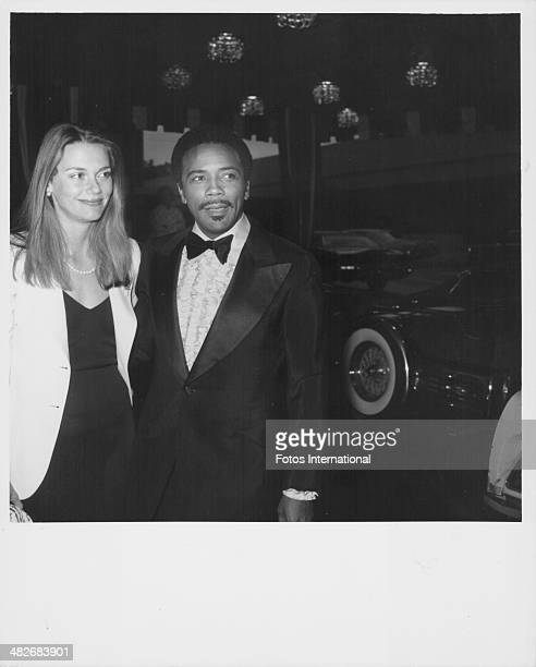 Actress Peggy Lipton with her husband musician Quincy Jones at the tribute concert to Ray Charles at the Hilton Hotel California June 1975