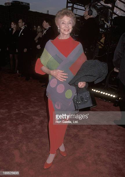 Actress Peggy McCay attends the 24th Annual People's Choice Awards on January 11 1998 at The Barker Hangar Santa Monica Air Center in Santa Monica...
