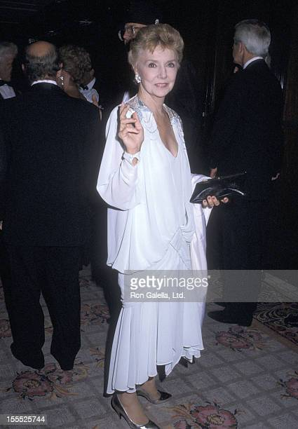 Actress Peggy McCay attends the 32nd Annual Thalians Ball on October 17 1987 at Century Plaza Hotel in Los Angeles California