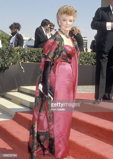 Actress Peggy McCay attends the 38th Annual Primetime Emmy Awards on September 21 1986 at Pasadena Civic Auditorium in Pasadena California