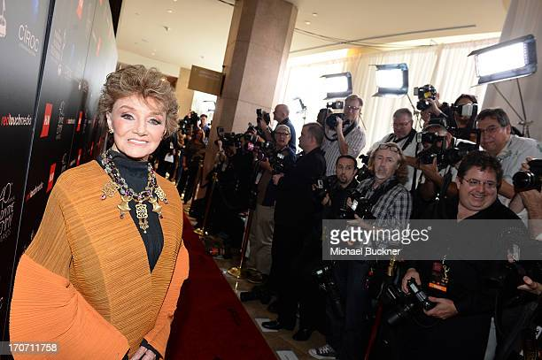 Actress Peggy McCay attends the 40th Annual Daytime Emmy Awards at the Beverly Hilton Hotel on June 16 2013 in Beverly Hills California...