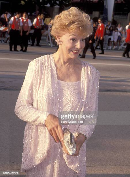 Actress Peggy McCay attends the 43rd Annual Primetime Emmy Awards on August 24 1991 at Pasadena Civic Auditorium in Pasadena California