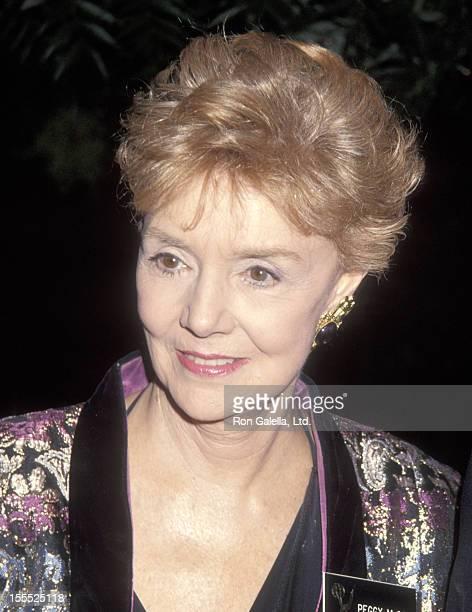 Actress Peggy McCay attends the 44th Annual Primetime Emmy Awards Nominees Cocktail Reception on August 25 1992 at Westwood Marquis Hotel in Westwood...