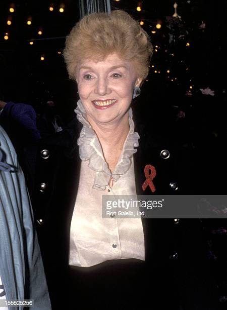 Actress Peggy McCay attends the 45th Annual Primetime Emmy Awards Nominees Cocktail Reception on September 13 1993 at Westwood Marquis Hotel in...