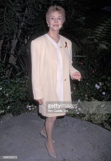 Actress Peggy McCay attends the 48th Annual Primetime Emmy Awards Nominees Cocktail Reception on September 4 1996 at Westwood Marquis Hotel in...