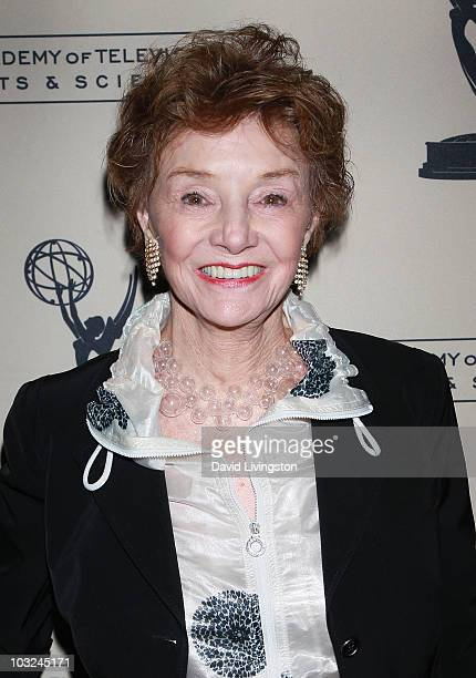 Actress Peggy McCay attends the Academy of Television Arts Sciences' Performers Peer Group Emmy reception at Chakra on August 4 2010 in Beverly Hills...
