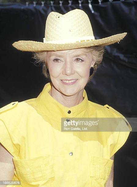 Actress Peggy McCay attends the Alpo's 11th BiAnnual Actors Others for Animals Celebrity Fair on August 30 1987 at Burbank Studio Ranch in Burbank...