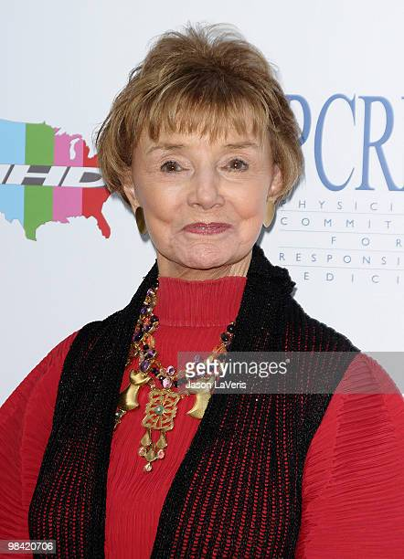 Actress Peggy McCay attends the Art Of Compassion PCRM 25th anniversary gala at The Lot on April 10 2010 in West Hollywood California