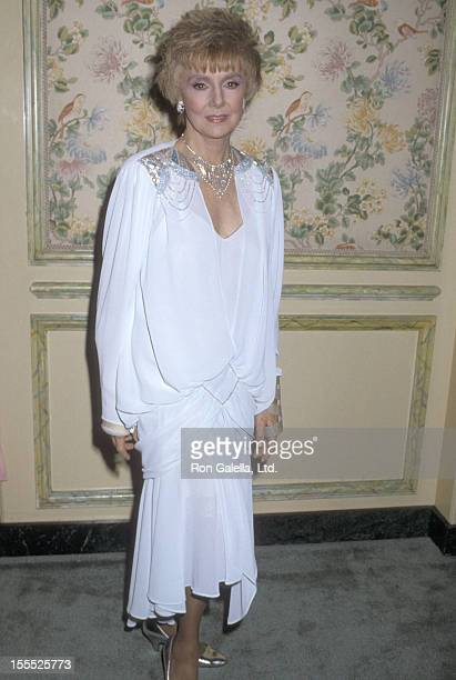 Actress Peggy McCay attends the Hollywood Women's Press Club's 46th Annual Golden Apple Awards on December 14 1986 at Beverly Wilshire Hotel in...