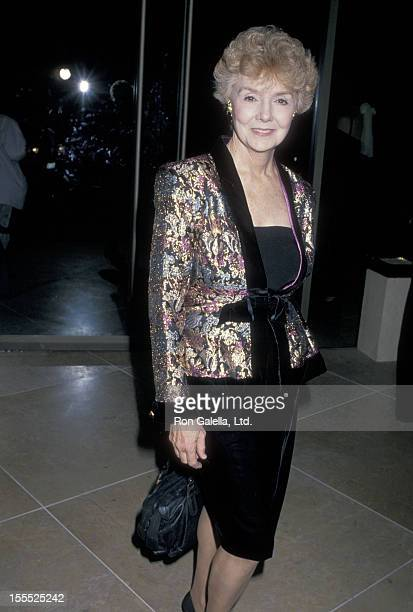 Actress Peggy McCay attends the Sixth Annual Soap Opera Digest Awards on January 14 1990 at Beverly Hilton Hotel in Beverly Hills California