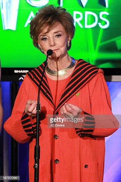 Actress Peggy McCay speaks during the 17th Annual Prism Awards at Beverly Hills Hotel on April 25 2013 in Beverly Hills California