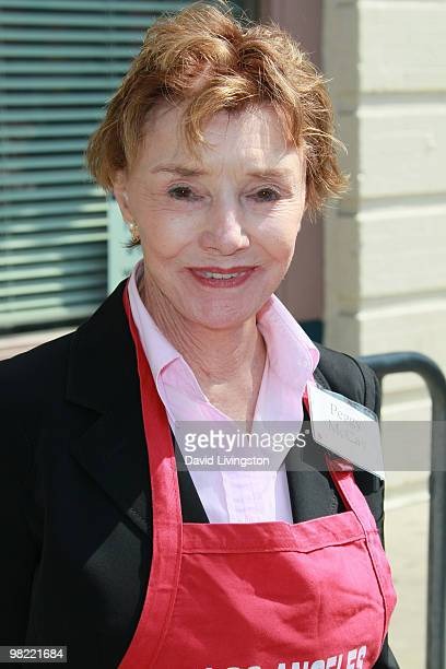 Actress Peggy McCay volunteers at the Los Angeles Mission during Easter on April 2 2010 in Los Angeles California