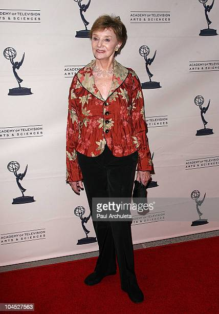 Actress Peggy McKay arrives at the Academy Of Television's presentation to 'Celebrate 45 Years Of Days Of Our Lives' at Leonard H Goldenson Theatre...